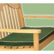 3 Seater Green Bench Pad Cushion