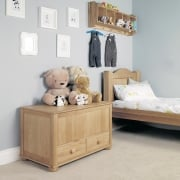 Amelie Oak Toy Box/Blanket Box