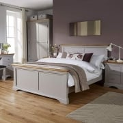 "Astbury Painted Oak 4'6"" Double Bed"