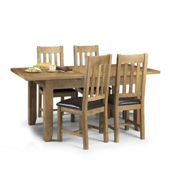 Astoria Oak Dining Table and Four Chairs