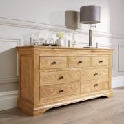 Breton Solid Oak 3 Over 4 Chest Of Drawers