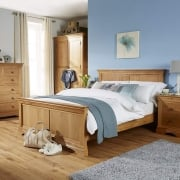Breton Solid Oak 5' Kingsize Double Bed