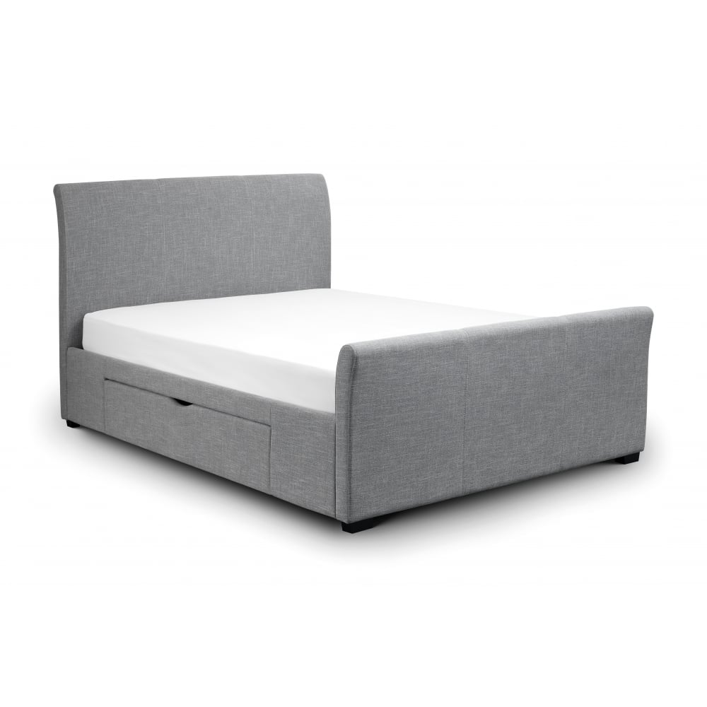 Capri Double Bed Frame With Twin Storage Drawers The