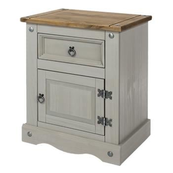 Corona Grey 1 Door 1 Drawer Bedside