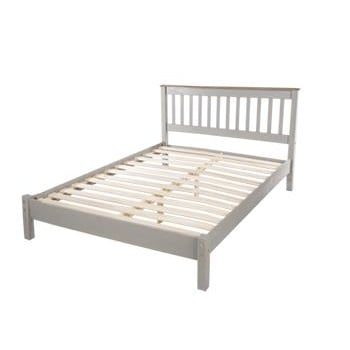 Corona Grey Double Low End Bed Frame