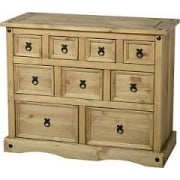 Corona Nine Drawer Merchant Chest