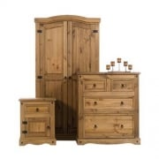 Corona Three Piece Bedroom Set