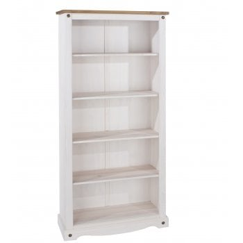 Corona White Tall Bookcase