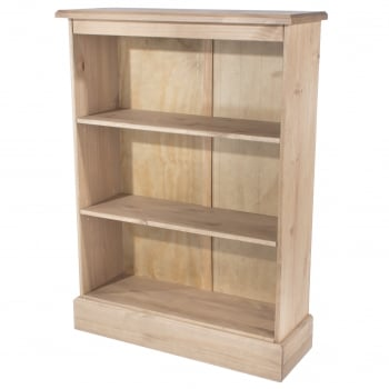 Cotswold Antique Pine Low Bookcase