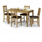 Coxmoor Oak Rectangular Table and Four Chairs