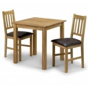 Coxmoor Oak Square Table and Two Chairs