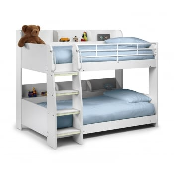 Domino Bunk Bed (White Finish)