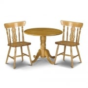 Dundee Table and Two Yorkshire Fiddleback Chairs