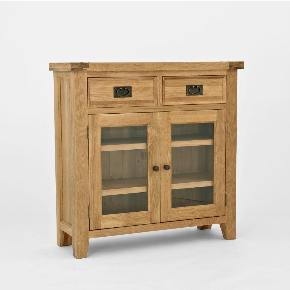 Elegance Oak Sideboard With Glass Door