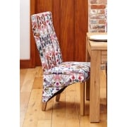 Full Back Upholstered Dining Chair Modena Fabric (Pack of Two)