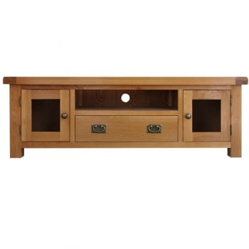 Hamilton Large TV Unit With Glass
