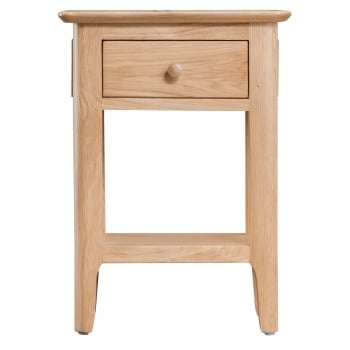 Holmstad Oak Side Table with Drawer