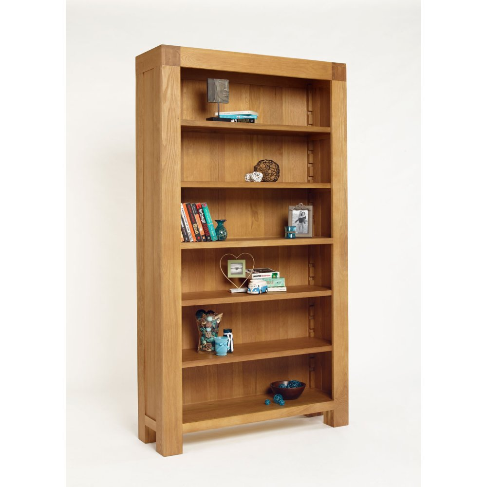 Kingston Chunky Oak Bookcase The Furniture House