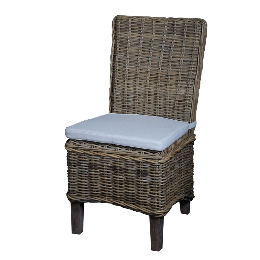 Knightsbridge Rattan Dining Chair With Cushion The Furniture House