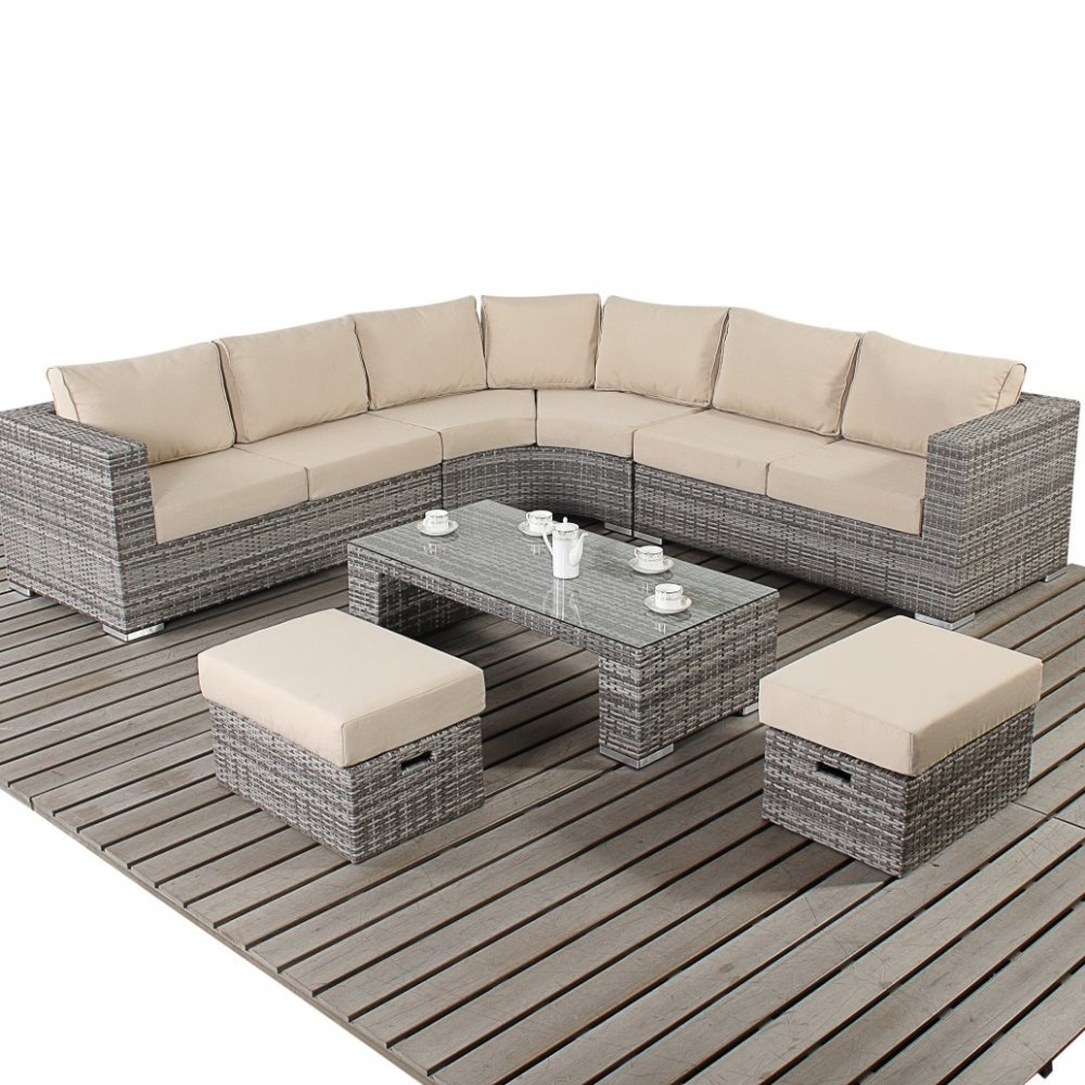 Port Royal Luxe Rustic Round Corner Sofa Set The