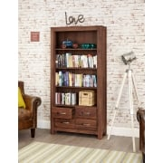 Mayan Walnut Large Four Drawer Bookcase
