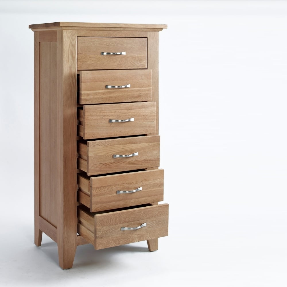 Melbourne 6 Drawer Tall Chest Of Drawers The Furniture House