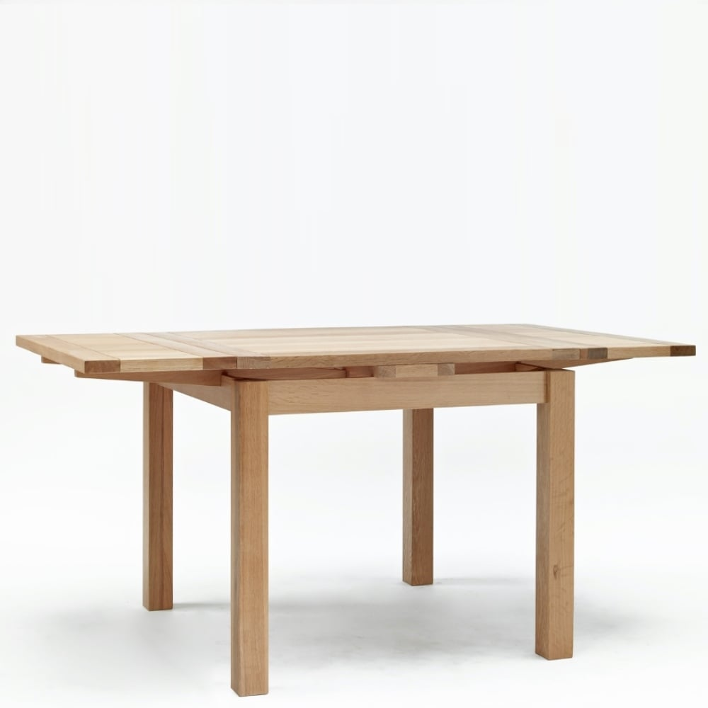 Sherwood Oak Small Drawleaf Table The Furniture House