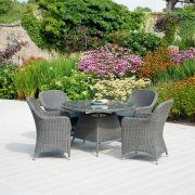 Monte Carlo Closed Weave 4 Seater Dining Set