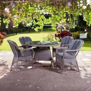 Monte Carlo Open Weave 4 Seater Dining Set