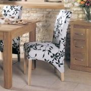 Oak Upholstered Dining Chair - Vintage Floral (Pack of Two)