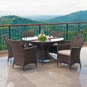 Ocean Round 6 Seater Dining Set