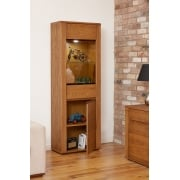 Olten Dark Oak Tall Display Cabinet