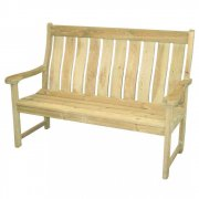 Pine Farmers High Back Bench 5ft