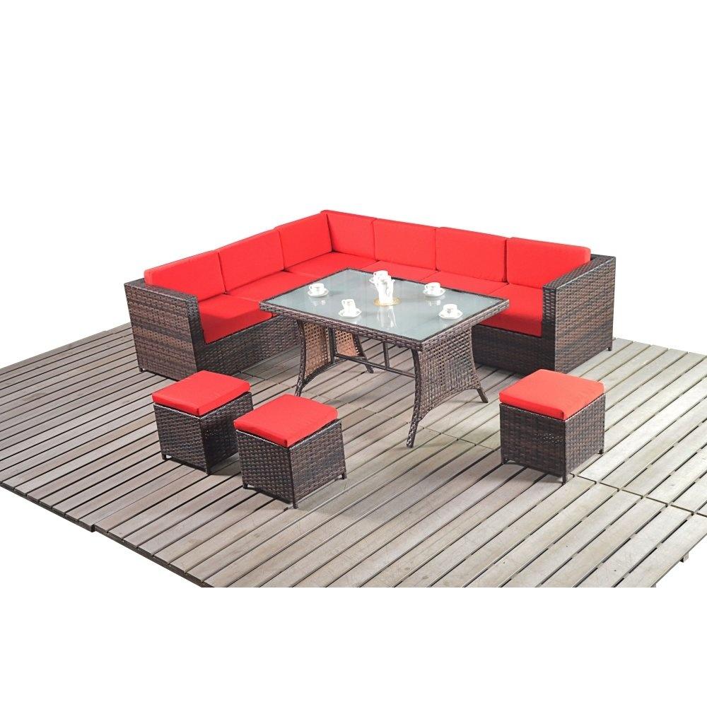 Corner Sofa For Kitchen Diner: Port Royal Premier Brown Dining Corner Sofa Set