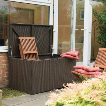 Rattan Metal Deck Box