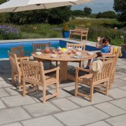 Roble Broadfield 1.75m Round 6 Seater Dining Set