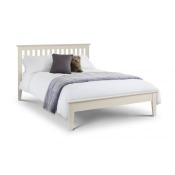 Salerno Stone White Double Bed Frame
