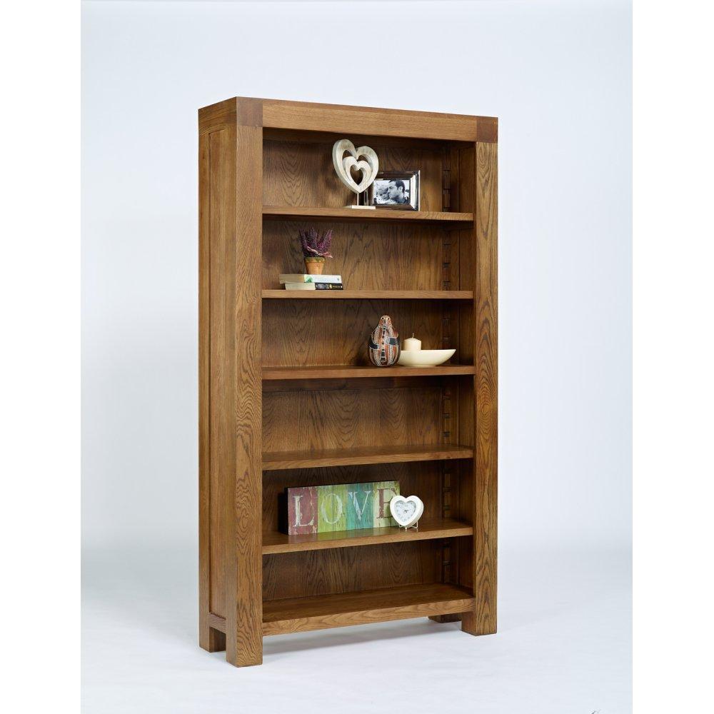 Santana Rustic Oak Full Bookcase The Furniture House