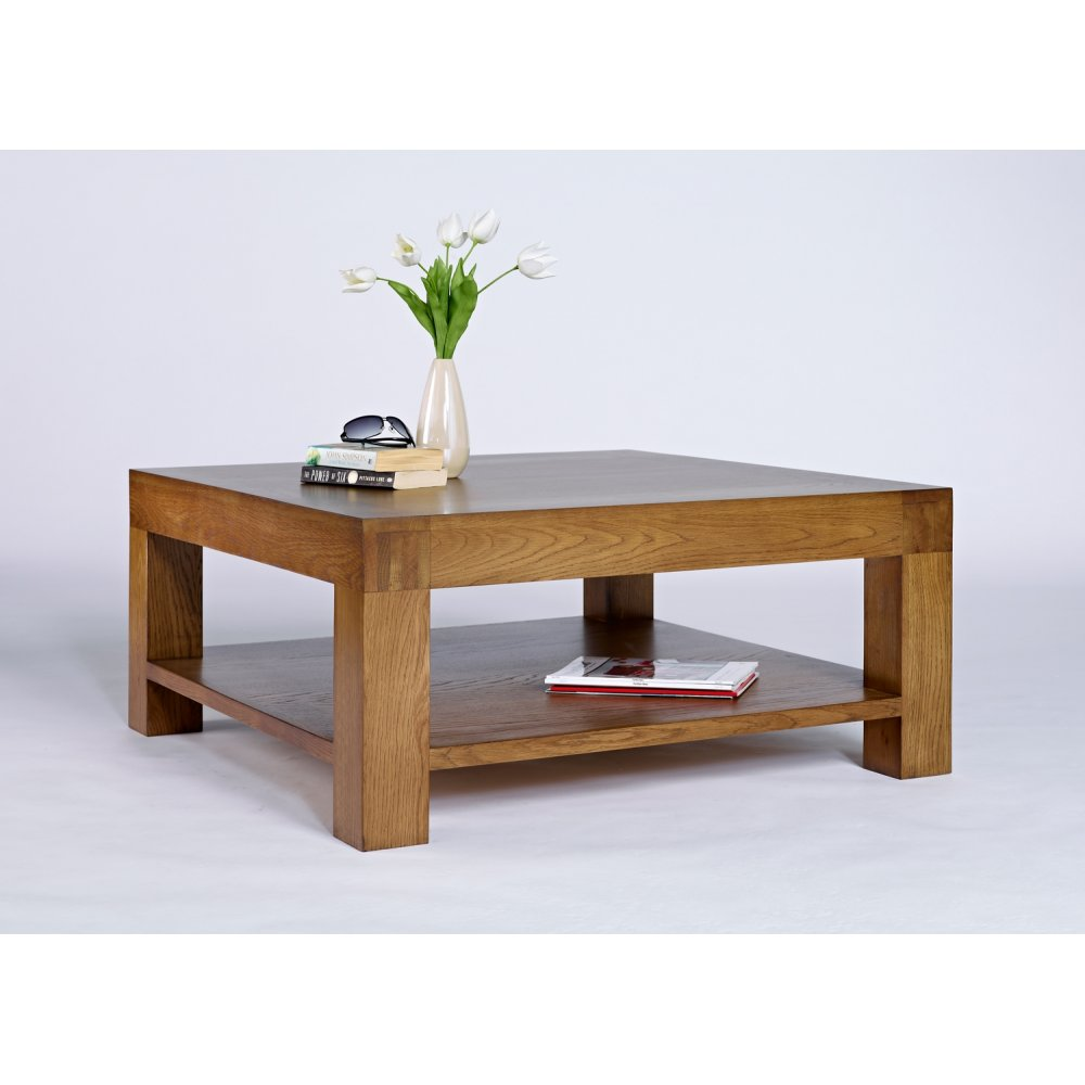 Santana rustic oak square coffee table the furniture house Coffee tables rustic