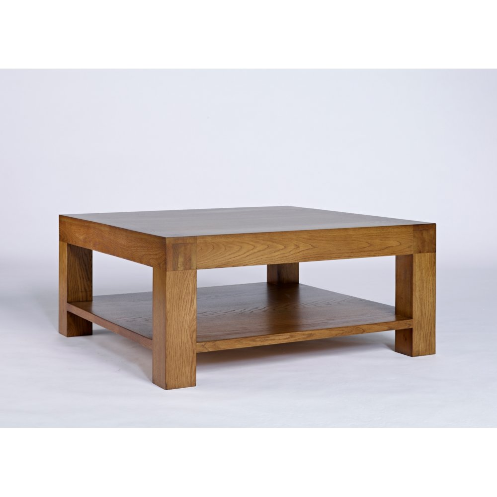 Santana Rustic Oak Square Coffee Table The Furniture House
