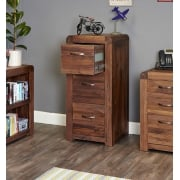 Shiro Walnut Three Drawer Filing Cabinet