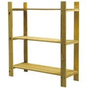Three Shelf Slatted Storage Unit